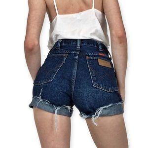 🌸Vtg Wrangler Dark Wash Cutoff Shorts 25🌸
